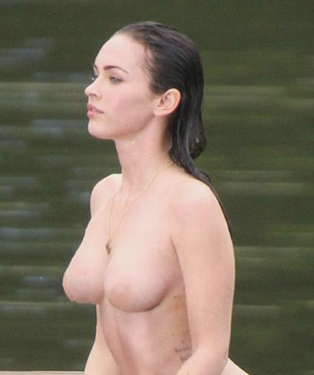 Read Megan fox showing off her boobs